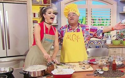 Ana Patricia sí sabe cocinar: Le preparó una Cacerola de Pollo al Chef P...