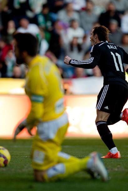 Ante la ausencia de Cristiano, Gareth Bale se encargó de cobrar la pena...