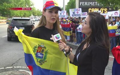 Venezolanos residentes de Georgia unen sus voces a la protesta mundial