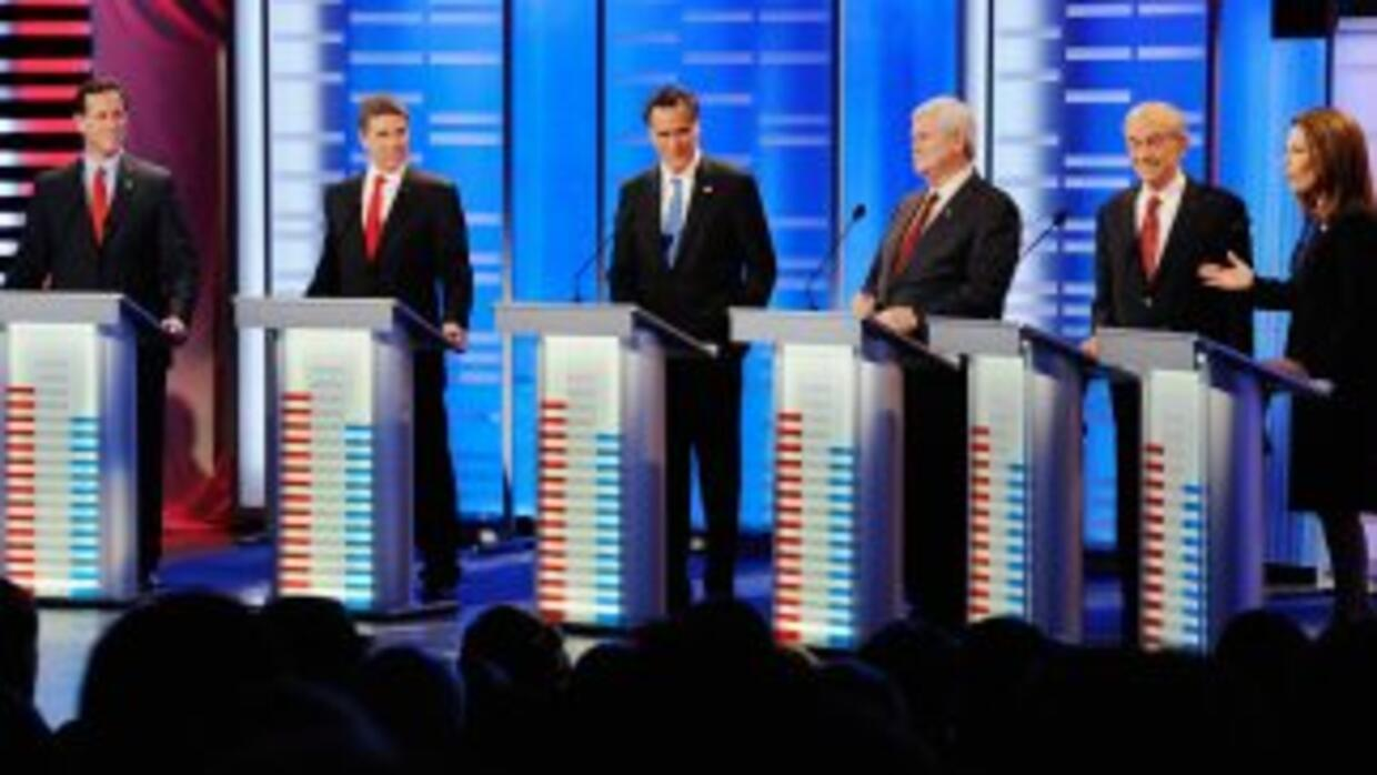 Debate republicano en Iowa.