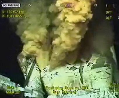 Muerte a todo color. BP instaló una cámara a 1,600 metros de profundidad...