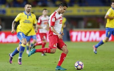 Diego Reyes hizo un buen partido ante Las Palmas.