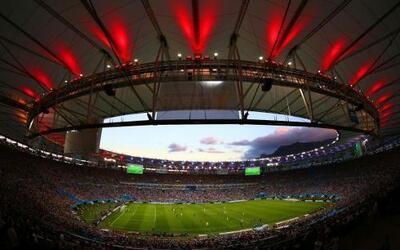 El mítico y hermoso estadio Maracaná, en Río de Janeiro.