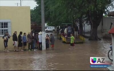 Amenaza de inundaciones por Patricia