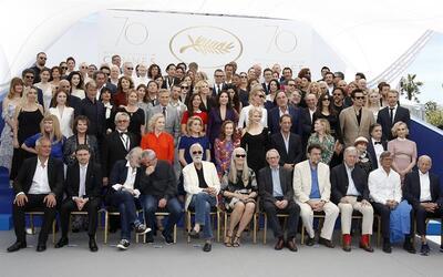 La foto de familia de la edición 70 del Festival de Cine de Cannes