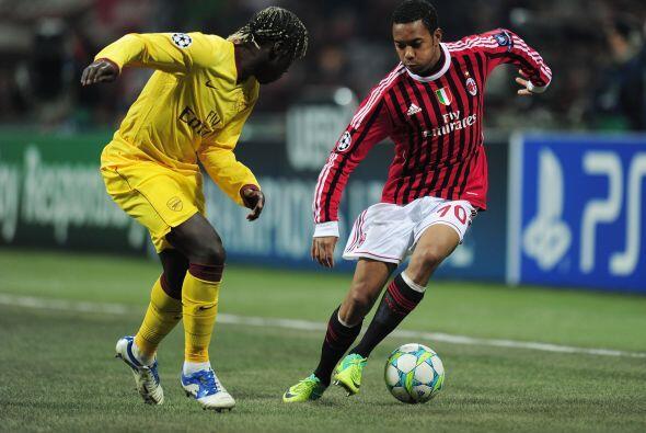 Robinho estaba dando una gran exhibición de gambetas y jugadas de...