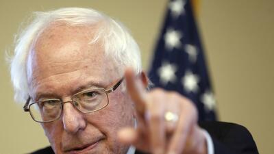 Bernie Sanders durante un evento de campaña este viernes en Nueva Hampshire