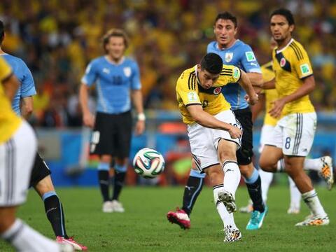 Durante la Copa Mundial  de Brasil 2014, James Rodríguez recibi&o...