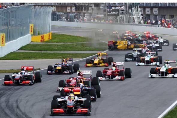 El Gran Premio de Canadá arrancó con el inglés Lewis Hamilton desde la '...