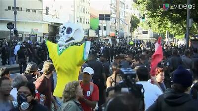 Manifestantes fueron dispersados previo a la final del Mundial