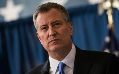 Alcalde de Nueva York Bill de Blasio anuncia nuevas acciones para proteg...