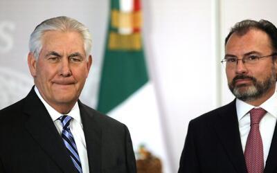 """Videgaray ante Tillerson y Kelly: """"Para superar los agravios, más que pa..."""