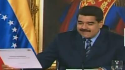 Nicolás MAduro en el anuncio de sus medidas económicas