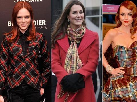 La tendencia tartán entrecruza colores y líneas y estas celebridades no...