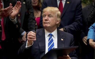 En esta imagen de archivo, tomada el 27 de marzo de 2017, el presidente...