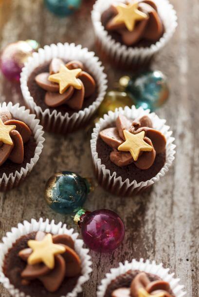 La navidad es una época llena de color y sabor y los 'cupcakes' n...