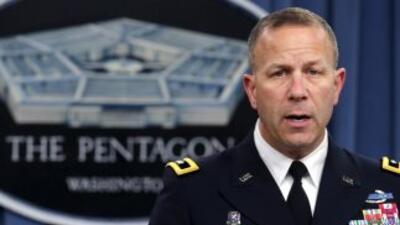 El mayor general Jeffrey Snow, durante la conferencia de prensa sobre lo...