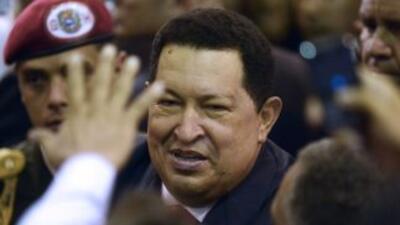 El presidente de Venezuela,Hugo Chávez.
