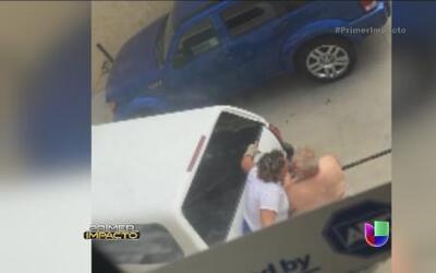 Impactante video de una mujer que trató de matar a su esposo