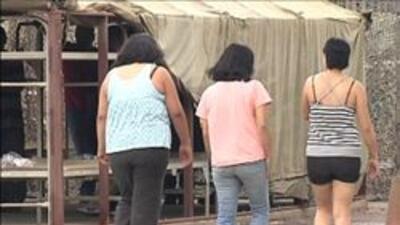 Mujeres arrestadas en la redada del sheriff