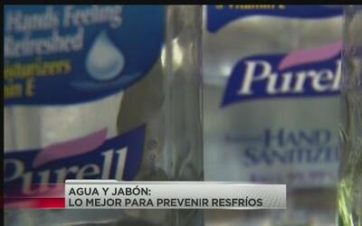 Agua y jabón, lo mejor para prevenir resfriados
