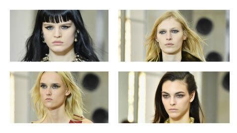Los rostros serísimos de las modelos que desfilaron recientemente...