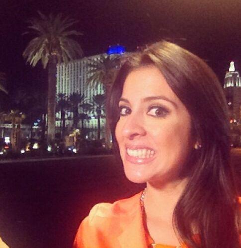 Maity reportando desde Las Vegas con el buen humor que le caracteriza.