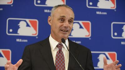 El comisionado de Grandes Ligas, Rob Manfred  (AP Photo/Paul Beaty, File)