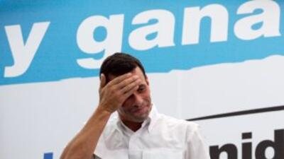 Henrique Capriles, candidato opositor para la presidencia de Venezuela.