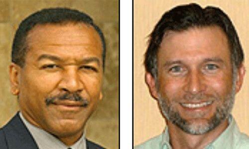 """Los candidatos del Partido Socialista: Stewart Alexander y Alejandro """"Al..."""