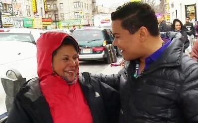 El Niño Prodigio se acercó a su gente en las calles de NY