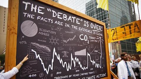 Científicos en la Marcha del Clima de la Gente 2014 en Nueva York.