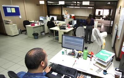 Estas son las oficinas de la Defensa Pública en Goicoechea, en Sa...