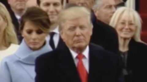 La expresión de Melania durante la toma de posesión de Trump que desató...