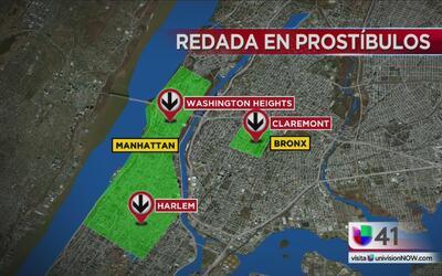 Desarticulan red de prostitución que operaba en El Bronx y Manhattan