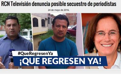 El canal RCN denunció el posible secuestro del periodista Diego D' Pablo...