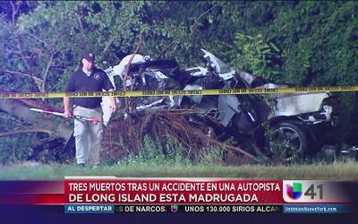 Dos muertos en accidente en autopista