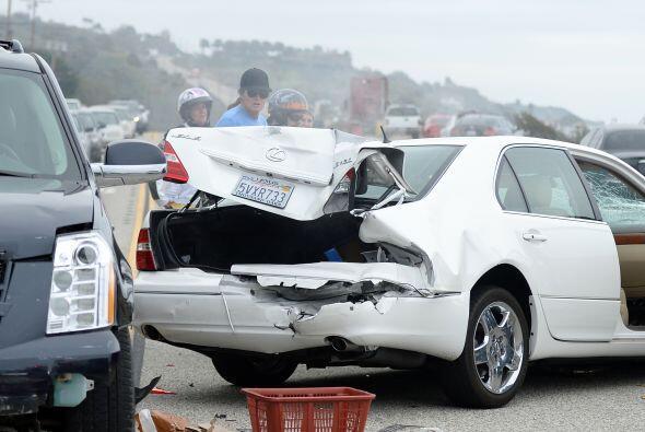 Fueron cuatro los automóviles involucrados en el accidente.