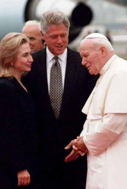 El Papa Juan Pablo II visitó Estados Unidos en varias oportunidad...