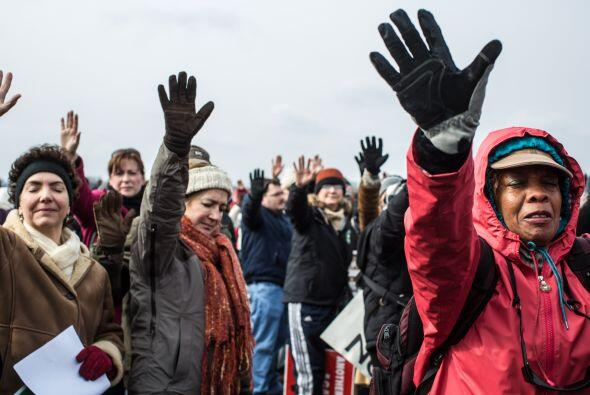 Todos los manifestantes coincidieron en alabar el plan presentado hace d...