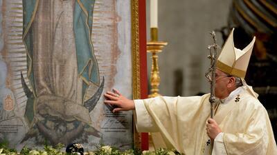 El Vaticano rindió un tributo especial a la Virgen de Guadalupe