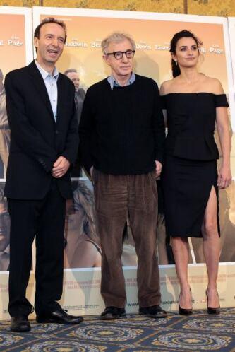 """Woody Allen durante la promoción de """"To Rome with love""""."""