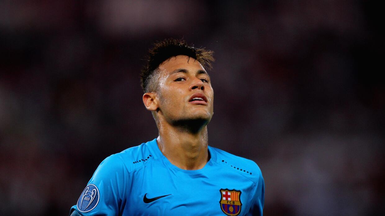 'Ney' en un partido de Champions con el Barcelona.