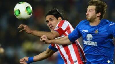 Ni Falcao pudo romper la monotonía del Atlético vs. Getafe en Copa del Rey.