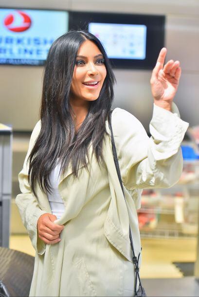 Así se despidió Kim de sus queridos paparazzi, ¡bye,...