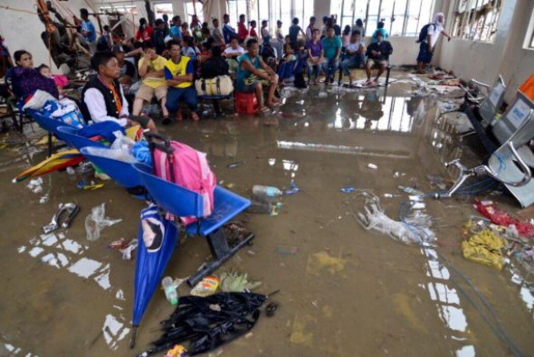Incluso los albergues fueron afectados por el ciclón.