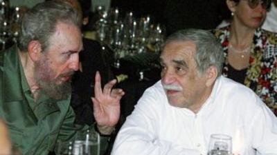 Fidel Castro, con Gabriel García Márquez.