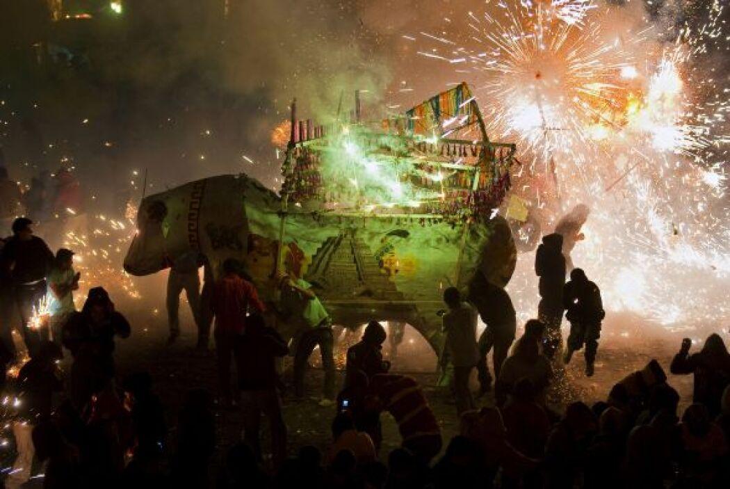 La fiesta es también conocida como la 'Pamplonada pirotécnica'.