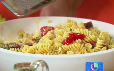 ¿No sabes cocinar? Aprende a preparar esta fácil Pasta con Chorizo