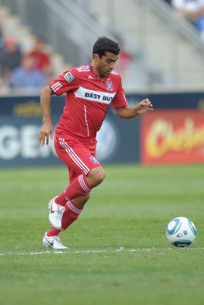 El mexicano Nery Castillo del Chicago Fire no tuvo un buen año en la MLS...